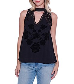Skylar & Jade by Taylor & Sage Embroidered Top