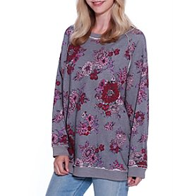 Skylar & Jade by Taylor & Sage Fleece Floral Oversized Sweatshirt