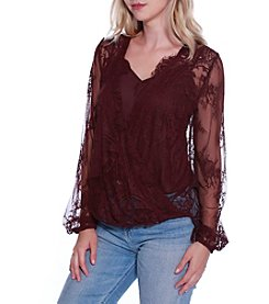 Skylar & Jade by Taylor & Sage Eyelash Lace Top