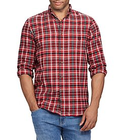 Chaps Men's Long Sleeve Button Down Performance Flannel Shirt
