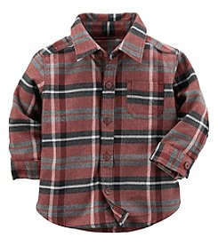 Carter's Baby Boys' Plaid Button Front Shirt