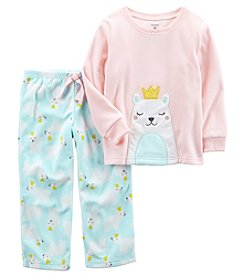 Carter's Baby Girls' 12M-14 2 Piece Polar Princess Fleece Pajama Set