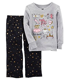 Carter's Baby Girls' 12M-14 2 Piece Ballerina Fleece Pajama Set