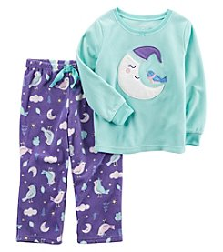 Carter's Baby Girls' 12M-8 2 Piece Moon Bird Fleece Pajama Set