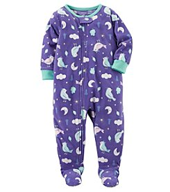 Carter's Baby Girls' 12M-4T One Piece Bird Print Fleece Pajamas