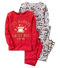 Carter's Baby Girls' 12M-24M 4 Piece Smore Snug Fit Cotton Pajamas