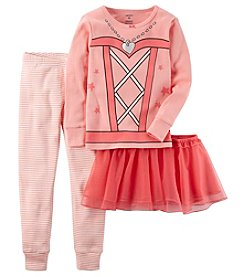 Carter's Girls' 2T-4T 3 Piece Ballerina Snug Fit Cotton Pajamas