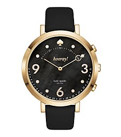 kate spade new york Monterey Leather Hybrid Watch