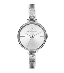 Michael Kors Women's Silvertone Round Face Jaryn Watch