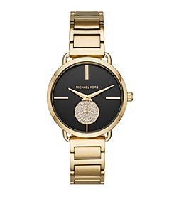Michael Kors Women's Goldtone Round Face Portia Watch