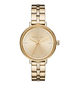 Michael Kors Women's Goldtone Round Face Bridgette Watch