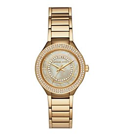 Michael Kors Women's Goldtone Round Face Kerry Watch