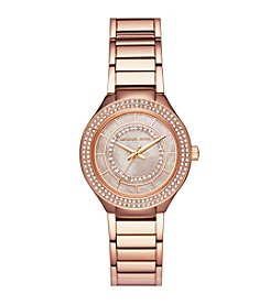 Michael Kors Women's Rose Goldtone Round Face Kerry Watch