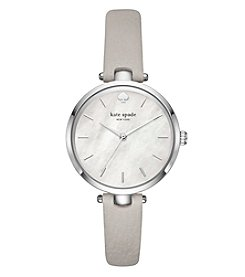 kate spade new york Holland Gray Leather Watch