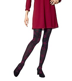 HUE Floral Vine Tights With Control Top