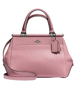 COACH GRACE SATCHEL BAG IN POLISHED PEBBLE LEATHER