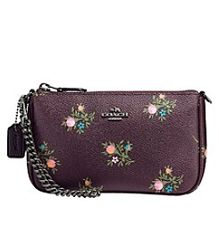 COACH Nolita Wristlet 19 with Cross Stitch Floral Print
