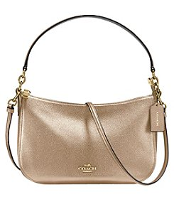 COACH CHELSEA CROSSBODY IN METALLIC POLISHED PEBBLE LEATHER