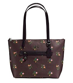 COACH Taylor Tote with Cross Stitch Floral Print