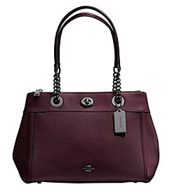 COACH TURNLOCK EDIE CARYALL IN POLISHED PEBBLE LEATHER