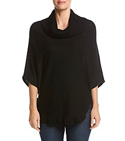 Studio Works Cowl Neck Poncho With Ruffles
