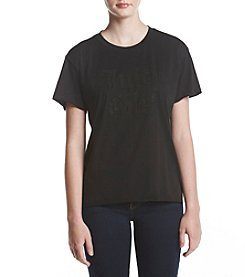 Juicy Couture Knit Juicy Girl Bead Embellished Tee