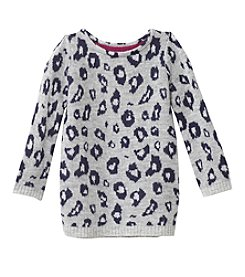 Carter's Girls' 2T-8 Long Sleeve Leopard Print Top