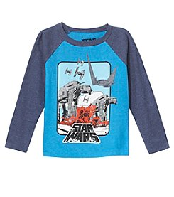 Star Wars Boys' 4-7 Long Sleeve War Scene Top