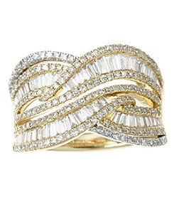 Effy 14k Gold  1.33 Ct. T.W. Diamond Ring