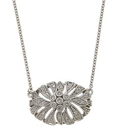 Sterling Silver 0.16 Ct. T.W. Diamond Necklace