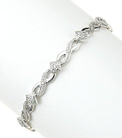 Sterling Silver 0.16 Ct. T.W. Diamond Bracelet