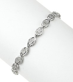 Sterling Silver 0.10 Ct. T.W. Diamond Bracelet