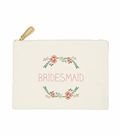 Cathy's Concepts Bridesmaid Floral Canvas Clutch