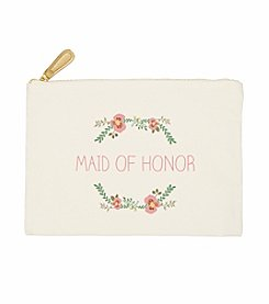 Cathy's Concepts Maid of Honor Floral Canvas Clutch