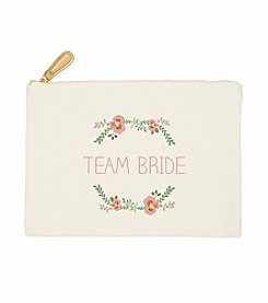 Cathy's Concepts Team Bride Floral Canvas Clutch