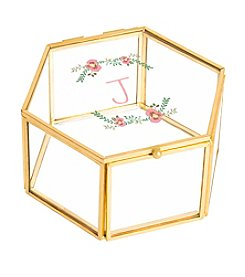Cathy's Concepts Personalized Floral Glass Keepsake Box