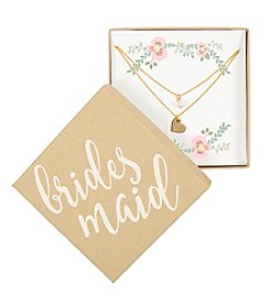 Cathy's Concepts Personalized Bridesmaid Gold-Plated Double Chain Necklace