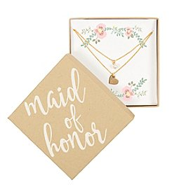 Cathy's Concepts Personalized Maid of Honor Gold-Plated Double Chain Necklace