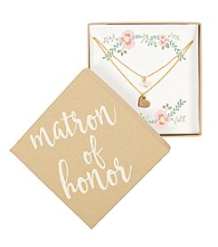 Cathy's Concepts Personalized Matron of Honor Gold-Plated Double Chain Necklace