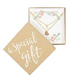 Cathy's Concepts Personalized Special Gift Gold-Plated Double Chain Necklace