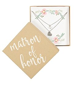 Cathy's Concepts Personalized Matron of Honor Silver-Plated Double Chain Necklace