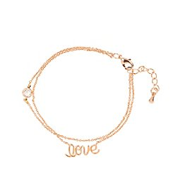 Cathy's Concepts Love Rose Gold-Plated Bracelet