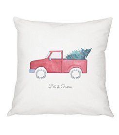 cathyu0027s concepts christmas tree truck throw pillow
