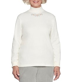 Alfred Dunner Mock Neck Top