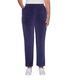 Alfred Dunner Stretch Velour Pants