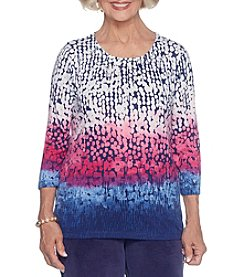 Alfred Dunner Abstract Ombre Top