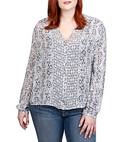 Lucky Brand Plus Size Peasant Top