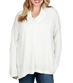 Lucky Brand Plus Size Waffle Sweater