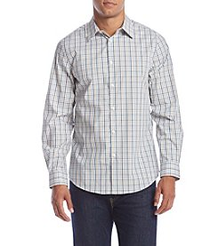 Perry Ellis Men's Big & Tall Tattersall Long Sleeve Button Down