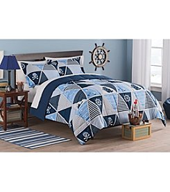 Living Quarters Jack Pirate Reversible Microfiber Down-Alternative Comforter